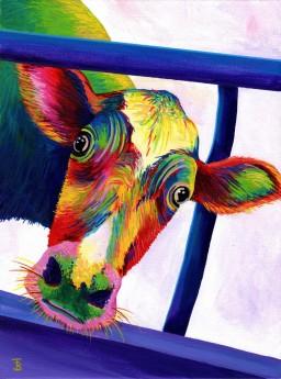 Luna the Rainbow Cow