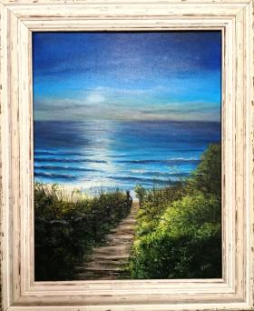 Moonlight bay framed