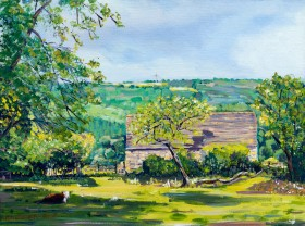 NEAR THE AMBERLEY INN painting for sale
