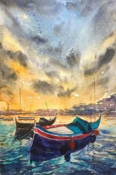 Original Watercolor malta