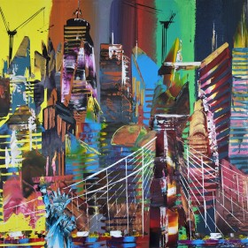 New York City Abstract Painting 857