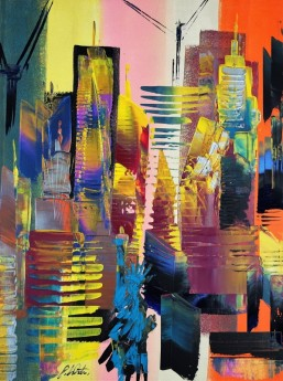 New York Cityscape Abstract 632