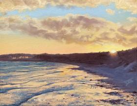 Newborough Sunset, sunset, beach sunset, seascape