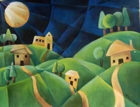 Night time Village