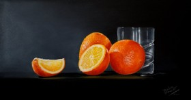 Oranges with Glass