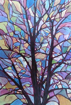 Painted sky Tree