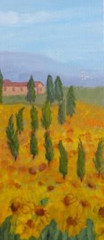 Path through the Sunflowers, Tuscany