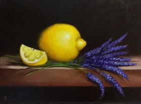 Lemons with lavender