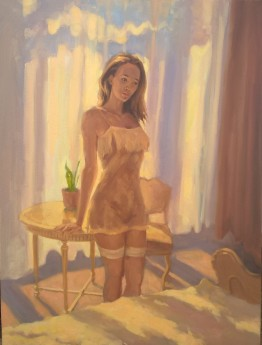 Woman in bedroom