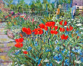 POPPY PATH painting for sale