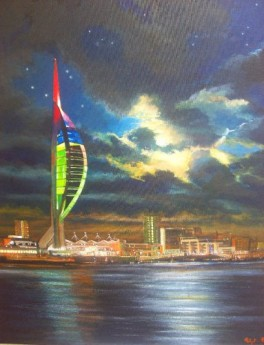 Portsmouth by night