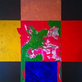 boxes, squares , colours, canvas, stretched