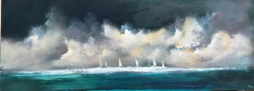 seascape yachts boats boating sky clouds turner