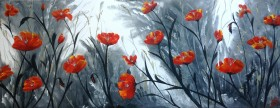 Red Poppies in Panorama