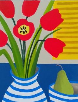 Six Red Tulips VI