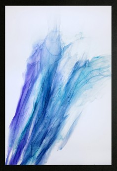 Teal Blue abstract painting