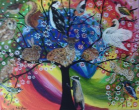 Tree of Life in a colourful, fantasy sky