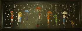 Raindrops on Umbrellas