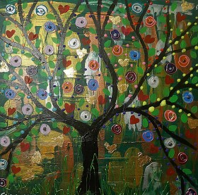Black Tree full of Hearts