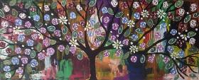 Colourful Rose Tree