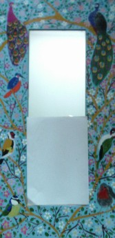 Hand Painted long Bird Mirror