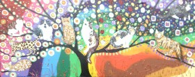 The Colourful Tree of Life with Quirky Cats