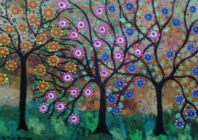 The Colourful Whispering Trees in an autumn breeze