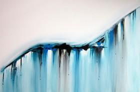 blue abstract, acrylic