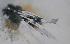 Snow leopard mountain