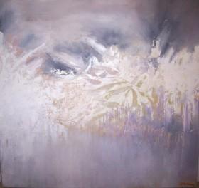 Mauve abstract landscape