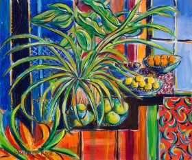 STILL LIFE AFTER MATISSE painting for sale