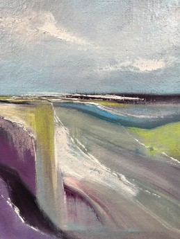 Abstract landscape seascape moors hills sky clouds  fields