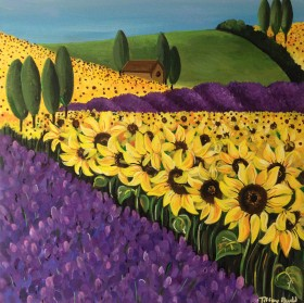 The Sunflower and Lavender Fields