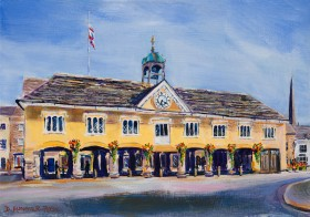 TETBURY MARKET HALL FROM LONG STREET painting for sale