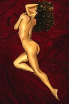 Fine art female nude figurative oil painting