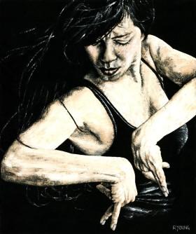 Fine art portrait of a passionate flamenco dancer