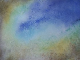 Turtle reef abstract painting