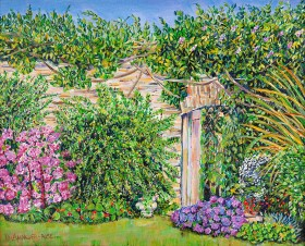 WALLED GARDEN GATE Painting