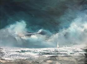 seascape clouds surf yachts