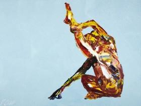 Yoga Nude Pose Painting 929