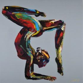 Yoga Nude Woman Pro Pose 839